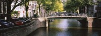 """Bridge across a channel, Amsterdam, Netherlands by Panoramic Images - 36"""" x 12"""""""