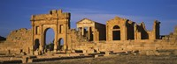 Old ruins of buildings in a city, Sbeitla, Kairwan, Tunisia Fine Art Print