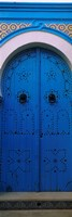 """Closed door of a house, Medina, Sousse, Tunisia by Panoramic Images - 12"""" x 36"""""""