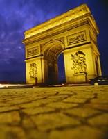 "Low angle view of a triumphal arch, Arc De Triomphe, Paris, France by Panoramic Images - 12"" x 36"""