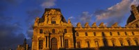 """Low angle view of a palace, Palais Du Louvre, Paris, France by Panoramic Images - 36"""" x 12"""", FulcrumGallery.com brand"""