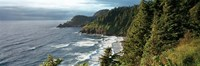 High angle view of a coastline, Heceta Head Lighthouse, Oregon, USA Fine Art Print
