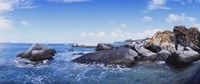"""Rock formations in the sea, The Baths, Virgin Gorda, British Virgin Islands by Panoramic Images - 36"""" x 12"""""""