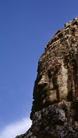 Low angle view of a face carving, Angkor Wat, Cambodia Fine Art Print