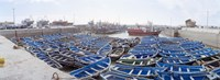 "Fishing boats moored at a dock, Essaouira Harbour, Essaouira, Morocco by Panoramic Images - 36"" x 12"" - $34.99"