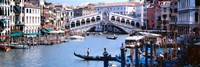 Bridge across a river, Rialto Bridge, Grand Canal, Venice, Italy Framed Print