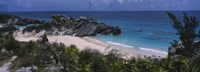 """High angle view of a beach, Bermuda by Panoramic Images - 36"""" x 12"""""""