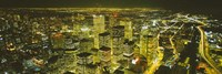 """High angle view of a city lit up at night, View from CN Tower, Toronto, Ontario, Canada by Panoramic Images - 36"""" x 12"""""""