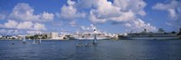 """Cruise ships docked at a harbor, Hamilton Harbour, Hamilton, Bermuda by Panoramic Images - 36"""" x 12"""", FulcrumGallery.com brand"""