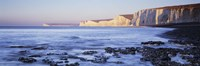 """Chalk cliffs at seaside, Seven sisters, Birling Gap, East Sussex, England by Panoramic Images - 36"""" x 12"""""""