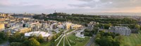 """High angle view of a city, Holyrood Palace, Our Dynamic Earth and Scottish Parliament Building, Edinburgh, Scotland by Panoramic Images - 36"""" x 12"""", FulcrumGallery.com brand"""