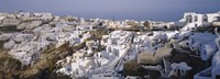 """High angle view of a town, Santorini, Greece (day) by Panoramic Images - 36"""" x 12"""""""