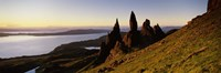 """Rock formations on the coast, Old Man of Storr, Trotternish, Isle of Skye, Scotland by Panoramic Images - 36"""" x 12"""""""