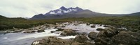 "River Sligachan, distant mountain in mist, Glen Sligachan, Isle of Skye, Scotland. by Panoramic Images - 36"" x 12"", FulcrumGallery.com brand"