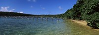 Dock in the sea, Vava'u, Tonga, South Pacific Fine Art Print