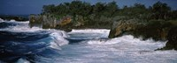 """Waves breaking on the coast, Vava'u, Tonga, South Pacific by Panoramic Images - 36"""" x 12"""""""