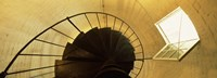 "Low angle view of a spiral staircase of a lighthouse, Key West lighthouse, Key West, Florida, USA by Panoramic Images - 36"" x 12"""