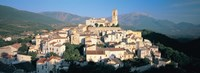 """High angle view of a town, Goriano Sicoli, L'Aquila Province, Abruzzo, Italy by Panoramic Images - 36"""" x 12"""""""
