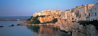 """Buildings at the coast, Vieste, Gargano, Apulia, Italy by Panoramic Images - 36"""" x 12"""" - $34.99"""