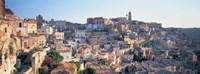 Houses in a town, Matera, Basilicata, Italy Fine Art Print