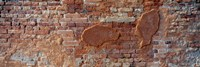 Close-up of a brick wall, Venice, Veneto, Italy Fine Art Print