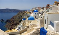High angle view of a church, Oia, Santorini, Cyclades Islands, Greece Fine Art Print