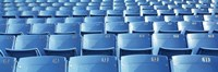 """Empty blue seats in a stadium, Soldier Field, Chicago, Illinois, USA by Panoramic Images - 36"""" x 12"""""""