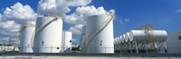 """Storage tanks in a factory, Miami, Florida, USA by Panoramic Images - 36"""" x 12"""" - $34.99"""