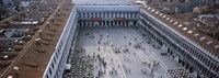 """High angle view of a town square, St. Mark's Square, St Mark's Campanile, Venice, Veneto, Italy by Panoramic Images - 36"""" x 12"""""""