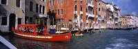 """Red Gondola, Grand Canal, Venice, Veneto, Italy by Panoramic Images - 36"""" x 12"""""""