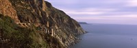 """Rock formations on the coast, Mt Chapman's Peak, Cape Town, Western Cape Province, South Africa by Panoramic Images - 36"""" x 12"""""""