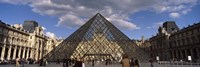 Pyramid in front of a building, Louvre Pyramid, Musee Du Louvre, Place du Carrousel, Paris, Ile-de-France, France by Panoramic Images - various sizes