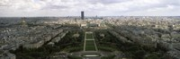 A view of Paris from the Eiffel Tower, Paris, France Fine Art Print
