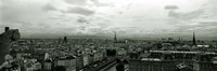 "Aerial view of a river passing through a city from Notre Dame de Paris, Seine River, Paris, Ile-de-France, France by Panoramic Images - 36"" x 12"", FulcrumGallery.com brand"