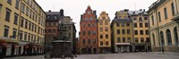 "Buildings in a city, Stortorget, Gamla Stan, Stockholm, Sweden by Panoramic Images - 36"" x 12"""