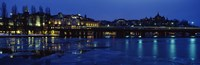 Waterfront at night, Stockholm, Sweden Fine Art Print