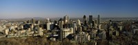 """Aerial view of skyscrapers in a city from Chalet du Mont-Royal, Mt Royal, Kondiaronk Belvedere, Montreal, Quebec, Canada by Panoramic Images - 36"""" x 12"""""""