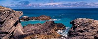 Rock formations on the coast, Bermuda Fine Art Print