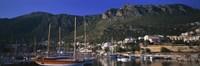 "Boats at a marina, Kas, Antalya Province, Turkey by Panoramic Images - 36"" x 12"""
