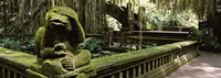 Statue of a monkey in a temple, Bathing Temple, Ubud Monkey Forest, Ubud, Bali, Indonesia Fine Art Print