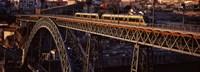 "Metro train on a bridge, Dom Luis I Bridge, Duoro River, Porto, Portugal by Panoramic Images - 36"" x 12"", FulcrumGallery.com brand"