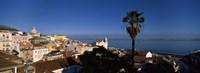 """View of buildings and the sea, Alfama, Lisbon, Portugal by Panoramic Images - 36"""" x 12"""""""