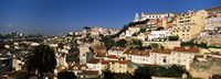 """Buildings on the slopes of a city, Alfama, Lisbon, Portugal by Panoramic Images - 36"""" x 12"""""""