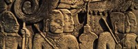 Sculptures in a temple, Bayon Temple, Angkor, Cambodia Fine Art Print