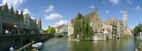 Rozenhoedkaai, Bruges, West Flanders, Belgium Fine Art Print