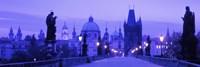 "Statues along a bridge, Charles Bridge, Prague, Czech Republic by Panoramic Images - 36"" x 12"" - $34.99"