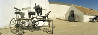 """Horse cart in front of a hotel, Hotel Cortijo El Esparragal, Gerena, Seville, Seville Province, Andalusia, Spain by Panoramic Images - 36"""" x 12"""""""
