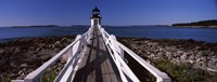 """Lighthouse on the coast, Marshall Point Lighthouse, built 1832, rebuilt 1858, Port Clyde, Maine, USA by Panoramic Images, 1858 - 36"""" x 12"""""""