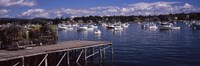 """Boats in the sea, Bass Harbor, Hancock County, Maine, USA by Panoramic Images - 36"""" x 12"""""""