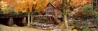"""Power station in a forest, Glade Creek Grist Mill, Babcock State Park, West Virginia, USA by Panoramic Images - 36"""" x 12"""" - $34.99"""